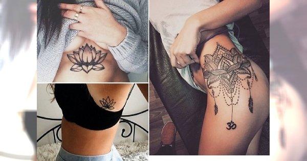 Kwiat Lotosu Niezwykle Kobiecy Tatuaż Na Rękę Plecy Klatkę