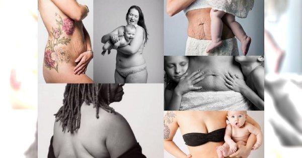 Odważne kobiety pokazują, jak naprawdę wygląda ciało po ciąży! SĄ NIESAMOWITE!