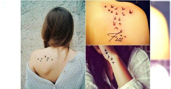 Tatuaż Z Odlatującymi Ptakami Małe I Urocze Wzory Dla