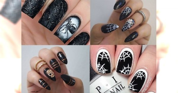 30 inspiracji na STRASZLIWIE urzekający, halloweenowy manicure
