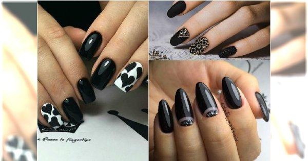 Czarny Manicure 20 Fantastycznych Wzorów Które Trzeba Wypróbować