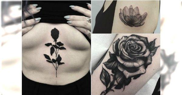 Czarne Tatuaże Eleganckie I Wyrafinowane Wzory Dla Kobiet