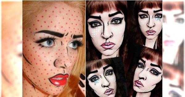 Halloween: makijaż jak z komiksu! Świetny makeup i wcale nie taki trudny do wykonania