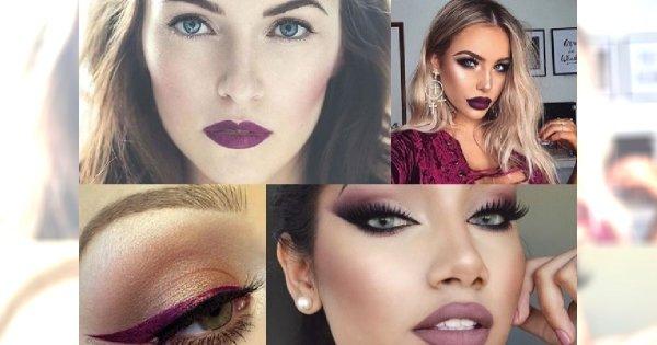 Makijażowe trendy - zakochaj się we wszystkich odcieniach śliwki!