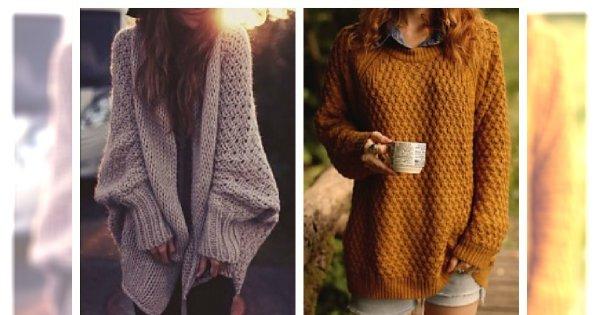 Duże ciepłe swetry są na topie! MUSISZ to mieć !