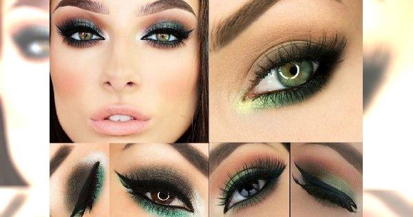 Zielony Makijaż Oczu Ryzykowny Kolor Udowadniamy że Jest
