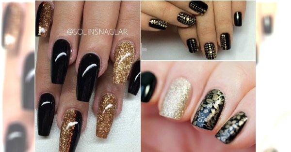 Czarno Złoty Manicure Na Sylwestra 20 Eleganckich Wzorów Do