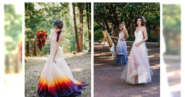 Niespotykane suknie ślubne z dodatkiem kolorów- WOW co za oryginalność! Robią wrażenie