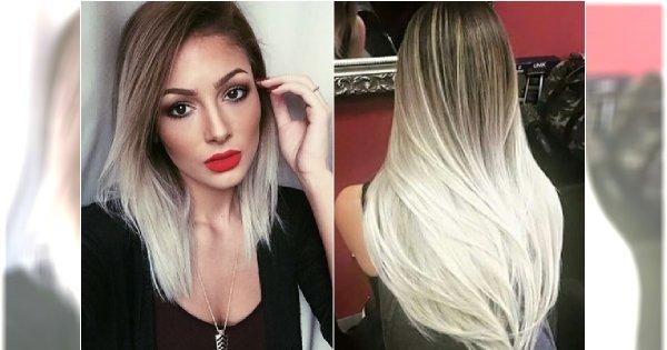 Białe ombre na włosach - gorący trend nie tylko dla blondynek. Co powiecie na taki efekt?
