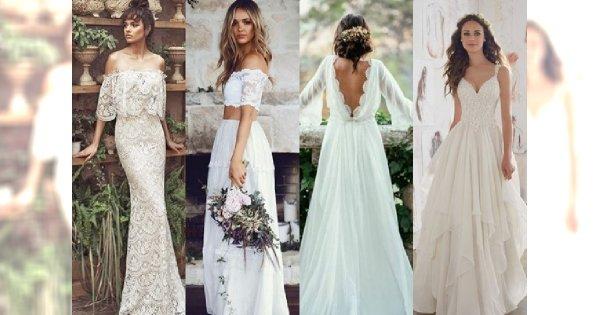 25 Sukni ślubnych W Stylu Boho Które Sprawią że Będziesz Chciała