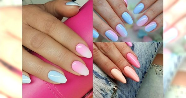 Manicure 2018 Pastelowe Ombre Manicure Idealne Na Wiosnę