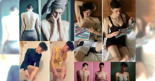 """Pozuje do zdjęć, jako mężczyzna oraz jako kobieta. """"Płciowość, to tylko wymysł społeczeństwa"""" - przekonuje androgyniczna modelka. W sieci zawrzało!"""