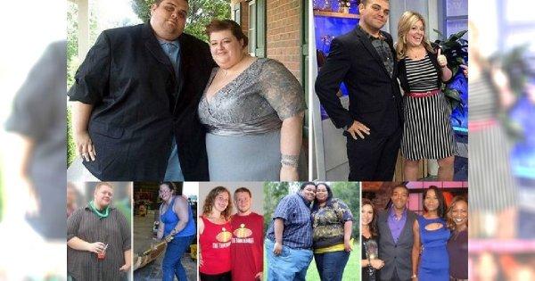 """Miłość nie tylko przenosi góry, ale też zrzuca zbędne kilogramy! Te pary postanowiły schudnąć i teraz prezentują swoje metamorfozy. Porównaj zdjęcia """"PRZED"""" i """"PO""""!"""