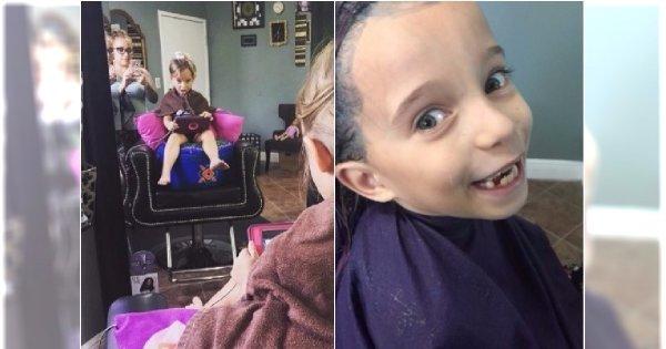Fryzjerka zrobiła 6-letniej córce TAKĄ fryzurę. Internauci: Oszpeciłaś dziecko!