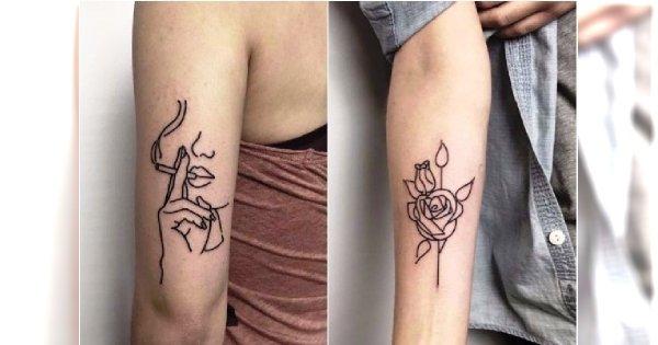 Liniowa Tatuaże Te Minimalistyczne Wzory Są Hitem