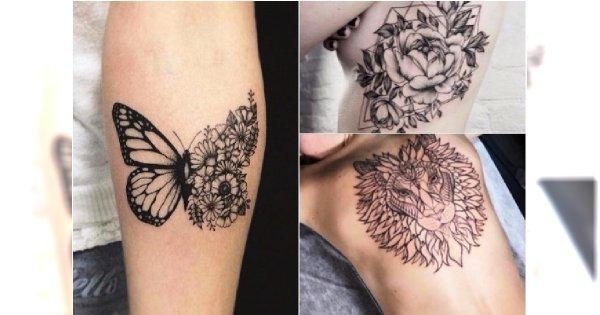 Czarne Tatuaże Piękne Unikatowe Wzory Dla Kobiet