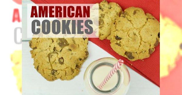 Prawdziwe amerykańskie cookies z płatkami czekolady - mega kruche!