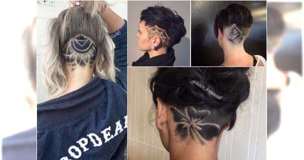 Wygolone wzorki na włosach - ALE CUDA! Zobaczcie, jakie cacka fundują sobie klientki salonów