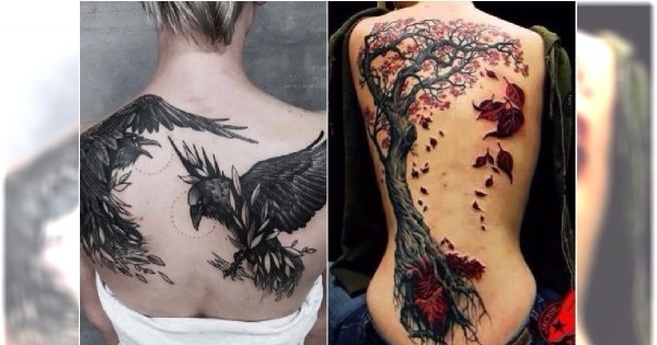 Duże Tatuaże Na Plecach Artystyczne Wzory Modne Motywy 20