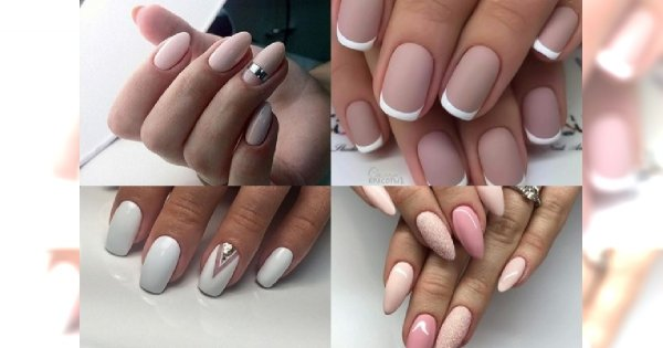Stonowany Delikatny Manicure Dla Kobiet Kochających Klasykę