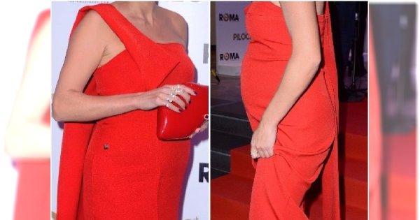 Czyj to brzuszek? Aktorka długo ukrywała ciążę, ale teraz widać ją bardzo wyraźnie!