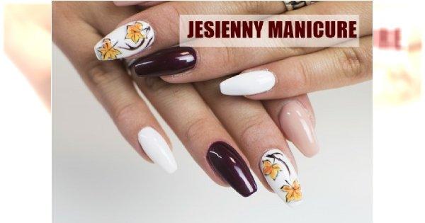 Jesienny manicure z listkiem - zobacz, jak go wykonać!