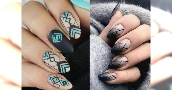 Geometryczny manicure - galeria modnych wzorków, które skradną Twoje serce