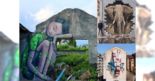 Oni wiedzą, jak zamienić zwykły mur w drzwi prowadzące do innego wymiaru - 25 dzieł street artu z całego świata, które trzeba zobaczyć