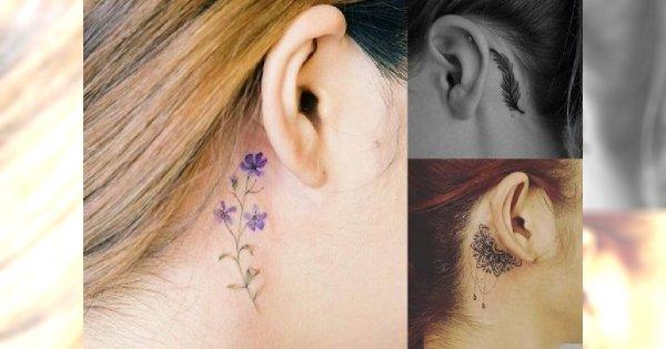 Tatuaż Przy Uchu 20 Najmodniejszych Wzorów Dla Dziewczyn