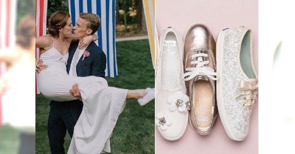 Nowy trend: Znana firma zrobiła kolekcję trampek ślubnych! Hot or not?