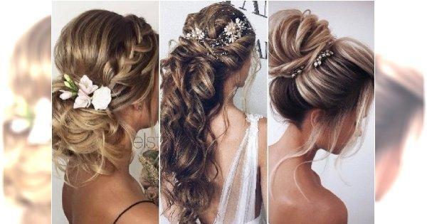 Fryzury ślubne 2018 - modne koki i upięcia włosów dla panny młodej