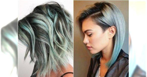Oryginalny kolor włosów na wiosnę: MIĘTA. Spróbujcie w wersji ombre i balejaż!