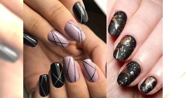 Black manicure 2018: najpiękniejsze stylizacje paznokci z czernią w roli głównej