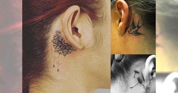 Tatuaż W Okolicy Ucha 20 Najmodniejszych Wzorów Dla Dziewczyn