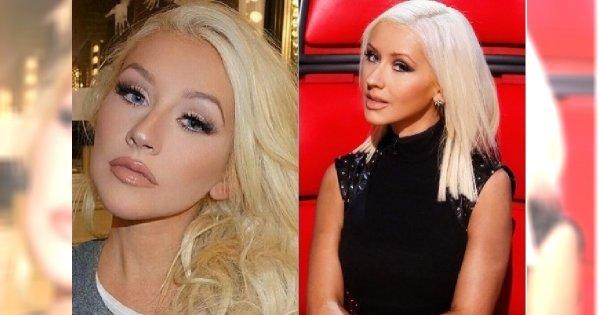 Christina Aguilera zawsze ma bardzo mocny makijaż. Bez niego jest nie do poznania!