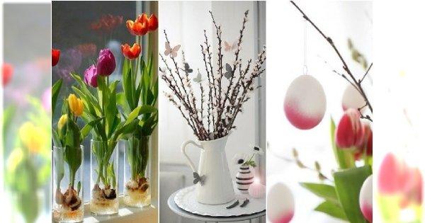 Wielkanocne dekoracje DIY. Najlepsze pomysły na stroiki, drzewka, kompozycje z kwiatów i bazi