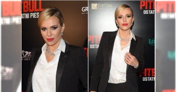 """Po męsku, lecz bardzo kobieco. DODA zadała szyku na premierze filmu """"Pitbull. Ostatni pies"""""""