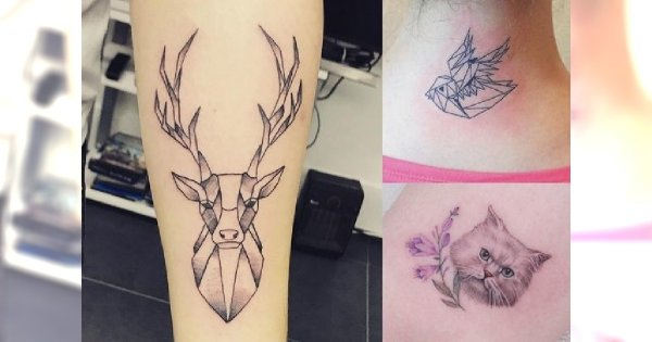 Tatuaże ze zwierzętami - 18 pięknych wzorów dla kobiet
