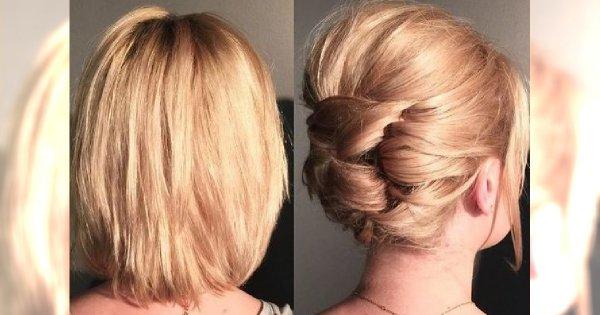 Fryzury ślubne dla krótkich i półdługich włosów - 16 fenomenalnych pomysłów