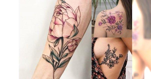 Tatuaże Kwiaty 20 Najpiękniejszych Pomysłów Dla Dziewczyn
