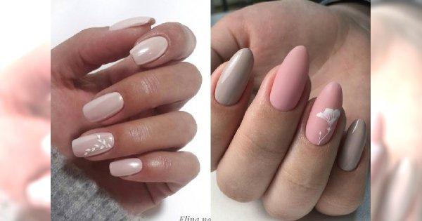 TREND! Naturalny manicure. Spróbujcie kolory nude, perłowe wykończenie i french z kwiatami!