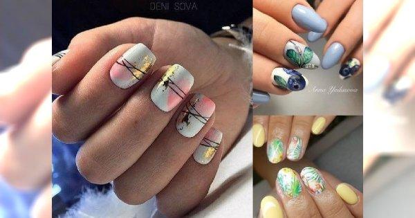 Letni manicure, jak z najlepszych salonów - śliczne zdobienia, którym ciężko się oprzeć!