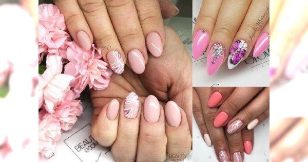 Ultrakobiecy manicure we wszystkich odcieniach różu - pudrowy, malinowy, koralowy i inne