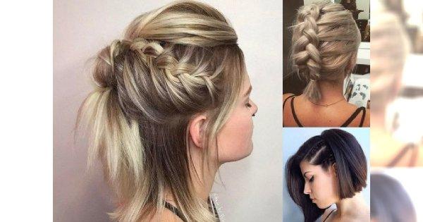 18 Fryzur Z Warkoczem Dla Krótkich Włosów