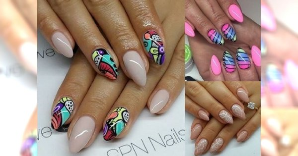 Różnorodne pomysły na letni manicure - 27 ślicznych zdobień