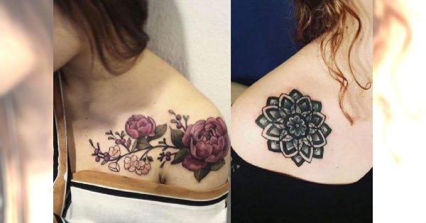 Tatuaż Na Kości Obojczykowej I łopatce Modne Wzory Dla