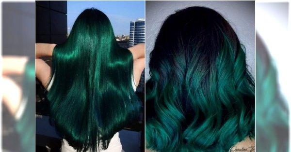 Zielone włosy to ohyda? Spójrz na to. Szmaragdowa zieleń absolutnie cię zaczaruje!
