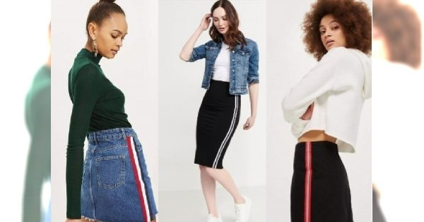 Moda 2018: Spódnica z lampasami to hit na lato! Jest super modna i WYSZCZUPLA