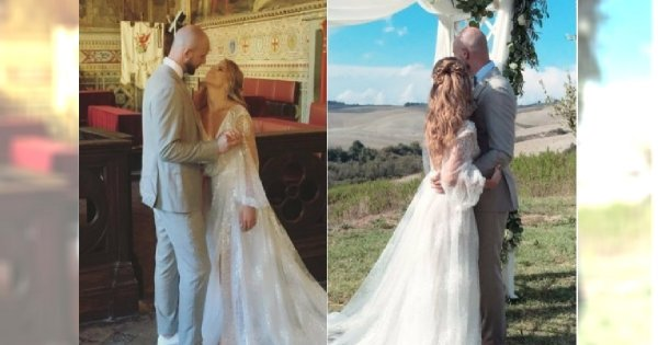 """Wypłynęły nowe zdjęcia z ceremonii ślubnej Agnieszki Kaczorowskiej! Fani zachwyceni jej MAKIJAŻEM. """"Bosko"""""""