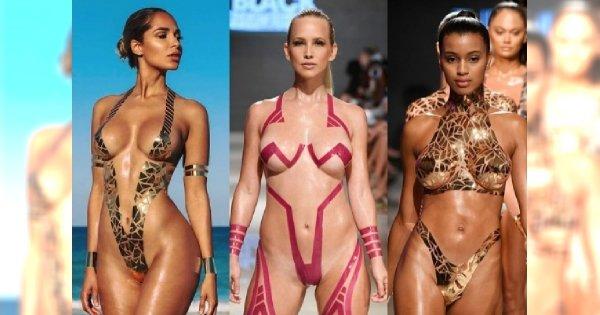 Bikini z TAŚMY klejącej - efektowne, pomysłowe, ale to zdejmowanie.... Od samego myślenia o tym BOLI